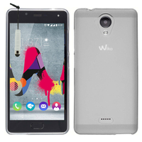 Wiko U Feel Lite: Housse Coque TPU Silicone Gel Souple Translucide Ultra Fine + mini Stylet - TRANSPARENT