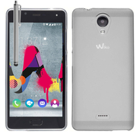 Wiko U Feel Lite: Housse Coque TPU Silicone Gel Souple Translucide Ultra Fine + Stylet - TRANSPARENT