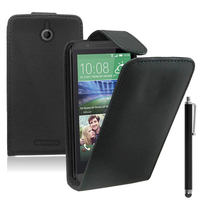 HTC Desire 510: Accessoire Etui Housse Coque Pochette simili cuir + Stylet - NOIR