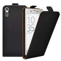 """Sony Xperia XZ 5.2""""/ Dual F8332: Accessoire Housse Coque Pochette Etui protection vrai cuir à rabat vertical - NOIR"""