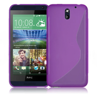 HTC Desire 610: Accessoire Housse Etui Pochette Coque S silicone gel - VIOLET