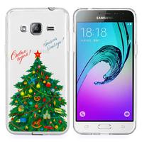 Samsung Galaxy J3 (2016) J320F/ Galaxy Amp Prime/ J320P/ J3109/ J320M/ J320Y/ Duos: Coque Housse silicone TPU Transparente Ultra-Fine Dessin animé jolie - Xmas Arbre