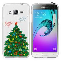 Samsung Galaxy J3 (2016) J320F/ Galaxy Amp Prime/ J320P/ J3109/ J320M/ J320Y/ Duos: Coque Housse silicone TPU Transparente Ultra-Fine Dessin animé jolie + mini Stylet - Xmas Arbre