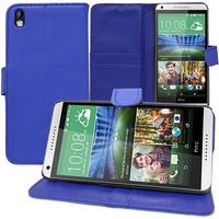HTC Desire 816/ 816G Dual Sim: Accessoire Etui portefeuille Livre Housse Coque Pochette support vidéo cuir PU - BLEU FONCE