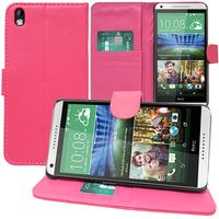 HTC Desire 816/ 816G Dual Sim: Accessoire Etui portefeuille Livre Housse Coque Pochette support vidéo cuir PU - ROSE