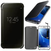 "Samsung Galaxy On8 SM-J710FN/DF 5.5"": Coque Silicone gel rigide Livre rabat + mini Stylet - NOIR"
