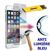 """Apple iPhone 7 4.7"""" (non compatible iPhone 7 Plus 5.5''): 1 Film Écran Verre Trempé Anti Lumière Bleu"""