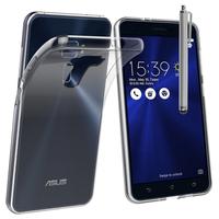 """Asus Zenfone 3 ZE520KL 5.2"""": Accessoire Housse Etui Coque gel UltraSlim et Ajustement parfait + Stylet - TRANSPARENT"""