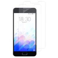 Meizu M3: Lot / Pack de 2x Films de protection d'écran clear transparent