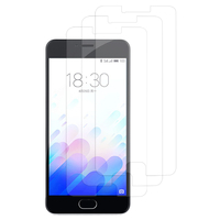 Meizu M3: Lot / Pack de 3x Films de protection d'écran clear transparent