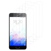 Meizu M3: Lot / Pack de 5x Films de protection d'écran clear transparent