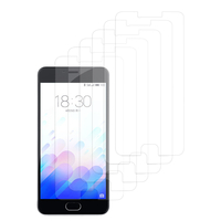 Meizu M3: Lot / Pack de 6x Films de protection d'écran clear transparent