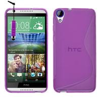 HTC Desire 820/ 820 Dual/ 820s Dual/ 820q Dual: Accessoire Housse Etui Pochette Coque S silicone gel + mini Stylet - VIOLET