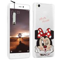 Xiaomi Redmi 3: Coque Housse silicone TPU Transparente Ultra-Fine Dessin animé jolie + mini Stylet - Minnie Mouse