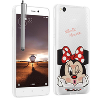 Xiaomi Redmi 3: Coque Housse silicone TPU Transparente Ultra-Fine Dessin animé jolie + Stylet - Minnie Mouse