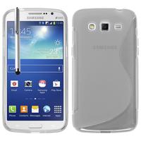 Samsung Galaxy Grand 2 SM-G7100 SM-G7102 SM-G7105 SM-G7106: Accessoire Housse Etui Pochette Coque S silicone gel + Stylet - TRANSPARENT