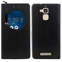 """Asus Zenfone 3 Max ZC520TL 5.2"""": Accessoire Coque Etui Housse Pochette Plastique View Case + mini Stylet - NOIR"""