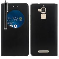 """Asus Zenfone 3 Max ZC520TL 5.2"""": Accessoire Coque Etui Housse Pochette Plastique View Case + Stylet - NOIR"""