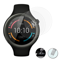 "Motorola Moto 360 Sport (1st gen) 1.37"" (non compatible Moto 360 46mm (2nd gen)/ Moto 360 (1st gen) 1.56""): Lot / Pack de 2 Films de protection d'écran Verre Trempé"
