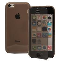 Apple iPhone 5C: Accessoire Coque Etui Housse Pochette silicone gel Portefeuille Livre rabat - GRIS