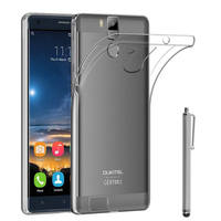 """OUKITEL K6000 Pro 4G 5.5"""" (non compatible OUKITEL K6000): Accessoire Housse Etui Coque gel UltraSlim et Ajustement parfait + Stylet - TRANSPARENT"""