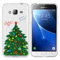 Samsung Galaxy Express Prime 4G LTE J320A/ Galaxy Sol 4G: Coque Housse silicone TPU Transparente Ultra-Fine Dessin animé jolie - Xmas Arbre