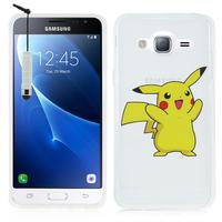 Samsung Galaxy Express Prime 4G LTE J320A/ Galaxy Sol 4G: Coque Housse silicone TPU Transparente Ultra-Fine Dessin animé jolie + mini Stylet - Pikachu