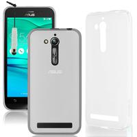 """Asus Zenfone Go ZB500KL 5.0"""": Accessoire Housse Etui Pochette Coque silicone gel + mini Stylet - TRANSPARENT"""