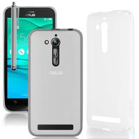 """Asus Zenfone Go ZB500KL 5.0"""": Accessoire Housse Etui Pochette Coque silicone gel + Stylet - TRANSPARENT"""
