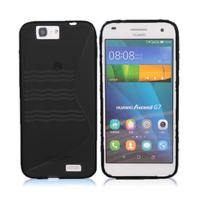 Huawei Ascend G7/ G7-L01/ G7-L03: Accessoire Housse Etui Pochette Coque S silicone gel - NOIR