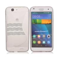 Huawei Ascend G7/ G7-L01/ G7-L03: Accessoire Housse Etui Pochette Coque S silicone gel - TRANSPARENT
