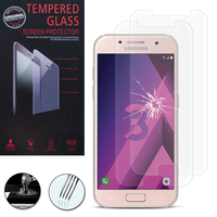 "Samsung Galaxy A3 (2017) 4.7"" A320F/FL A320Y/ A3 (2017) Duos (non compatible Version 2014/ 2015/ 2016): Lot / Pack de 2 Films de protection d'écran Verre Trempé"