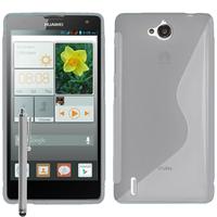 Huawei Ascend G740/ Orange Yumo: Accessoire Housse Etui Pochette Coque S silicone gel + Stylet - TRANSPARENT