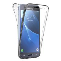 Samsung Galaxy Express Prime 4G LTE J320A/ Galaxy Sol 4G: Coque Housse Silicone Gel TRANSPARENTE ultra mince 360° protection intégrale Avant et Arrière - TRANSPARENT