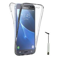 Samsung Galaxy Express Prime 4G LTE J320A/ Galaxy Sol 4G: Coque Housse Silicone Gel TRANSPARENTE ultra mince 360° protection intégrale Avant et Arrière + mini Stylet - TRANSPARENT