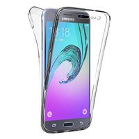 Samsung Galaxy J3 (2016) J320F/ Galaxy Amp Prime/ J320P/ J3109/ J320M/ J320Y/ Duos: Coque Housse Silicone Gel TRANSPARENTE ultra mince 360° protection intégrale Avant et Arrière - TRANSPARENT