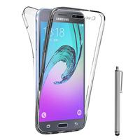 Samsung Galaxy J3 (2016) J320F/ Galaxy Amp Prime/ J320P/ J3109/ J320M/ J320Y/ Duos: Coque Housse Silicone Gel TRANSPARENTE ultra mince 360° protection intégrale Avant et Arrière + Stylet - TRANSPARENT