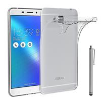 """Asus Zenfone 3 Max ZC553KL 5.5"""": Accessoire Housse Etui Coque gel UltraSlim et Ajustement parfait + Stylet - TRANSPARENT"""