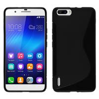 Huawei Honor 6 Plus (non compatible Honor 6X/ Honor 6): Accessoire Housse Etui Pochette Coque S silicone gel - NOIR