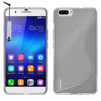 Huawei Honor 6 Plus (non compatible Honor 6X/ Honor 6): Accessoire Housse Etui Pochette Coque S silicone gel + mini Stylet - TRANSPARENT