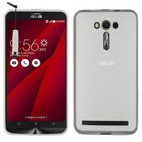 """Asus Zenfone 2 Laser ZE600KL/ ZE601KL 6.0"""": Accessoire Housse Etui Pochette Coque silicone gel + mini Stylet - TRANSPARENT"""