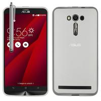"""Asus Zenfone 2 Laser ZE600KL/ ZE601KL 6.0"""": Accessoire Housse Etui Pochette Coque silicone gel + Stylet - TRANSPARENT"""