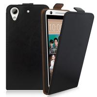 HTC Desire 626/ 626s/ 626G/ 626G+/ 626 (USA): Accessoire Housse Coque Pochette Etui protection vrai cuir à rabat vertical - NOIR