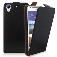 HTC Desire 628/ 628 dual sim: Accessoire Housse Coque Pochette Etui protection vrai cuir à rabat vertical - NOIR