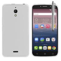 """Alcatel Pixi 4 (6) 4G LTE 6.0"""" (non compatible Pixi 4 (6) 3G): Accessoire Housse Etui Pochette Coque silicone gel + Stylet - TRANSPARENT"""