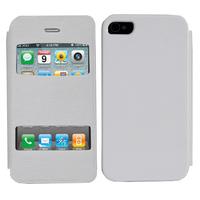 Apple iPhone 4/ 4S/ 4G: Accessoire Coque Etui Housse Pochette Plastique View Case - BLANC