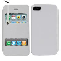 Apple iPhone 4/ 4S/ 4G: Accessoire Coque Etui Housse Pochette Plastique View Case + mini Stylet - BLANC