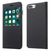 "Apple iPhone 7 Plus 5.5"" (non compatible iPhone 7 4.7''): Etui View Case Flip Folio Leather cover - NOIR"