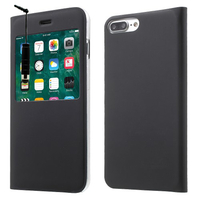 "Apple iPhone 7 Plus 5.5"" (non compatible iPhone 7 4.7''): Etui View Case Flip Folio Leather cover + mini Stylet - NOIR"