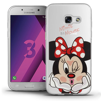 "Samsung Galaxy A3 (2017) 4.7"" A320F/FL A320Y/ A3 (2017) Duos (non compatible Version 2014/ 2015/ 2016): Coque Housse silicone TPU Transparente Ultra-Fine Dessin animé jolie - Minnie Mouse"